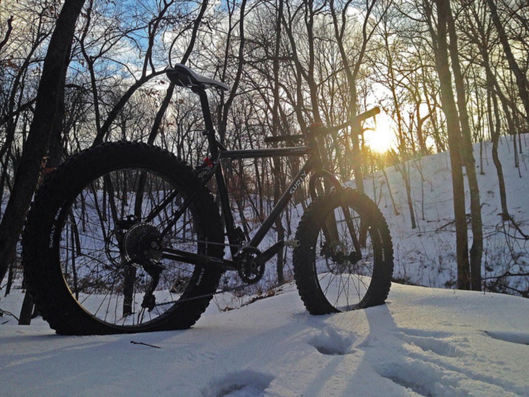 Fat biking is a rapidly-growing sport that allows cyclists to explore snowy backcountry terrain.