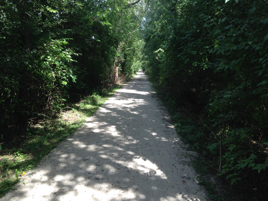 The Illinois Prairie Path offers lots of shade and crushed limestone to make for comfortable long runs in the summer.