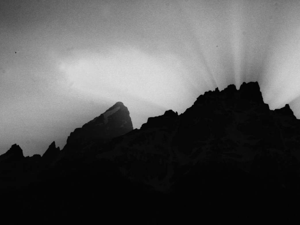 What sort of spirits are lurking in the shadows of the Tetons?