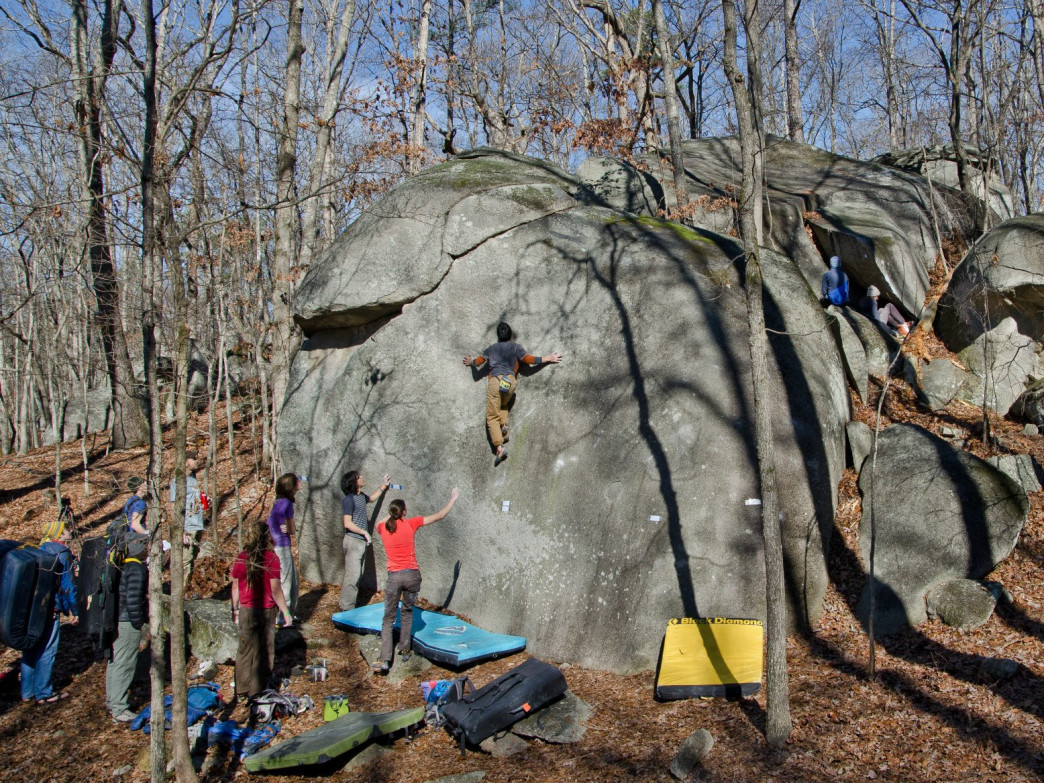 The annual Float the Boat bouldering competition at Boat Rock