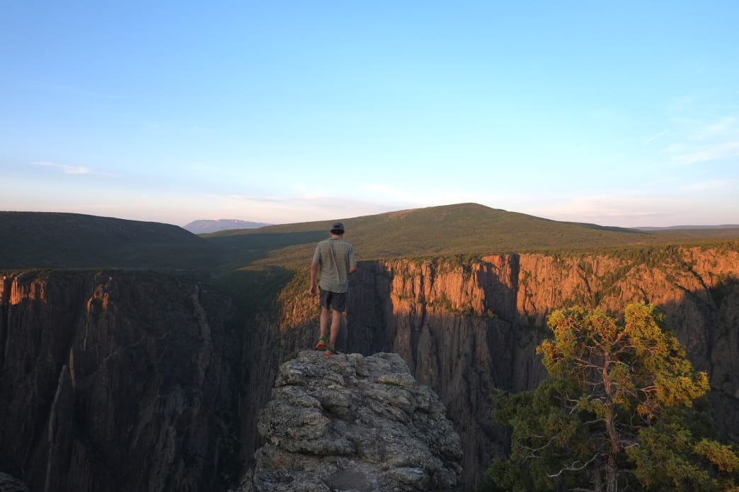 Standing on the rim of infinity, Black Canyon of the Gunnison.