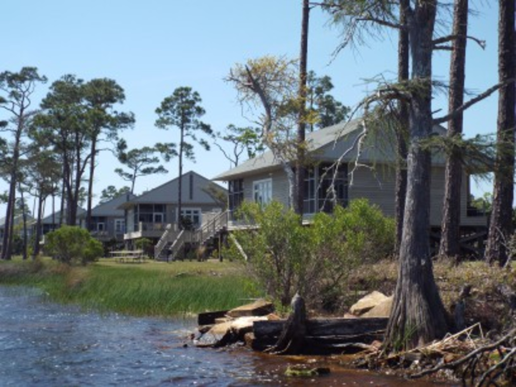 Sit on your screened in porch, fish on one of the piers, or paddle on Lake Shelby.