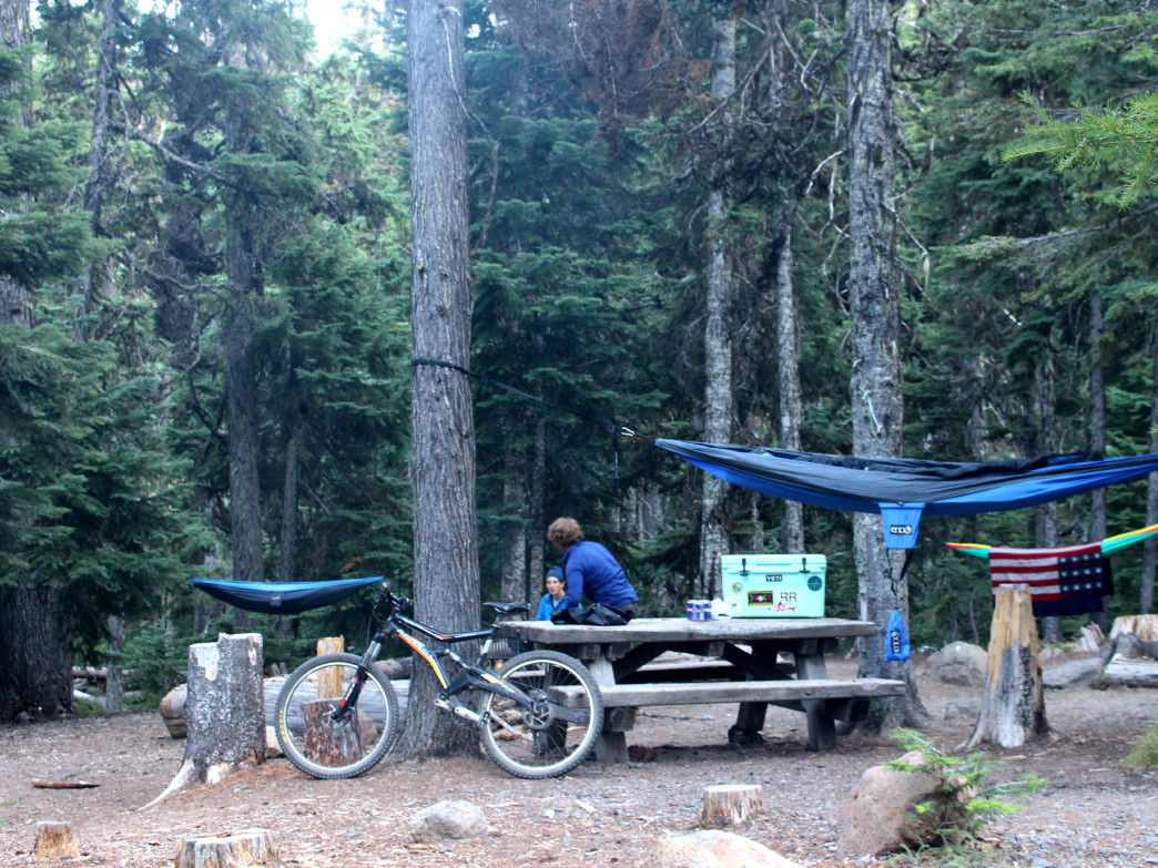 Camp life in Mount Hood National Forest