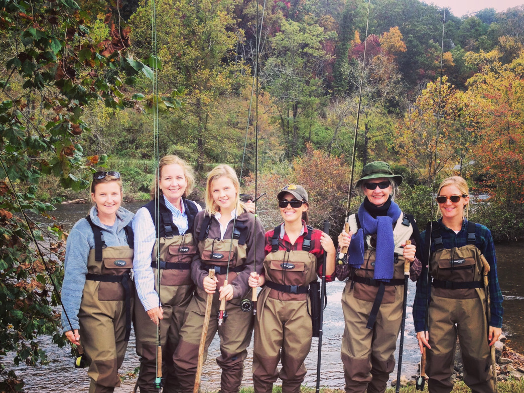 These ladies are all smiles after a day spent on the Fly Fishing Trail.