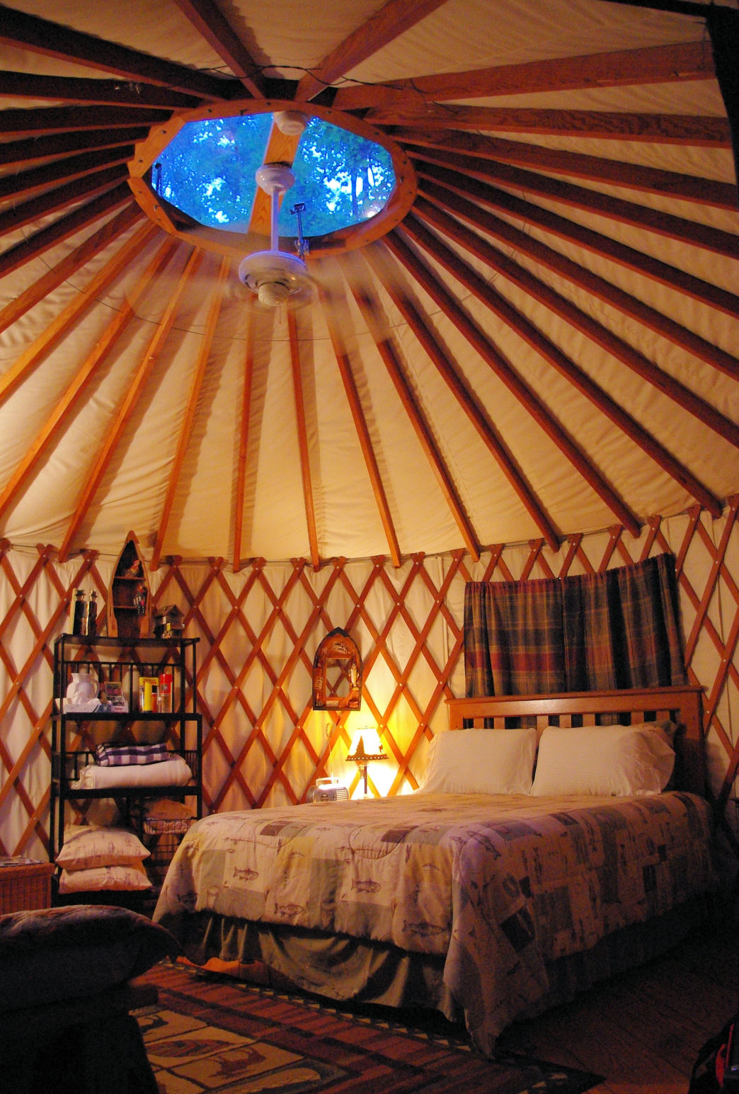 Luxurious simplicity inside the Yurt.