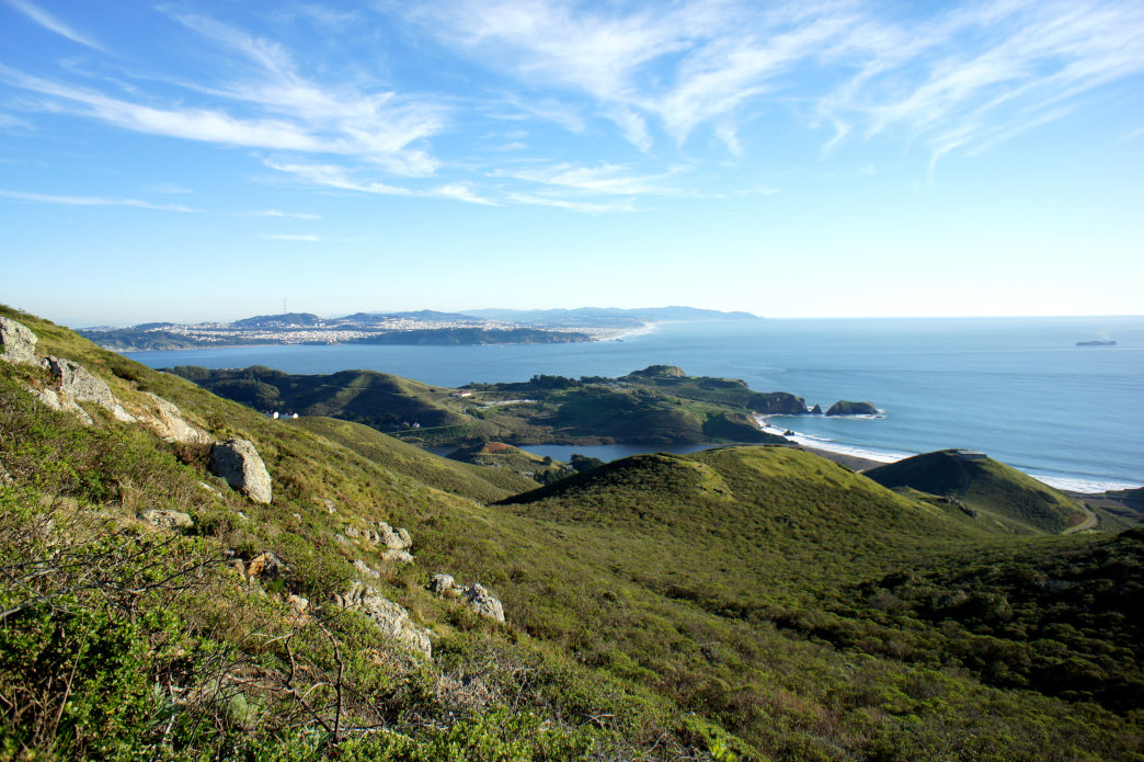 San Francisco visible from the Miwok Trail