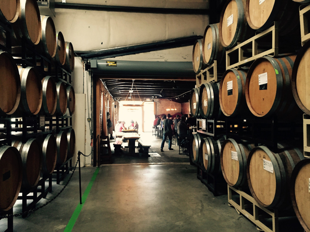 The barrel room at the Funkatorium.