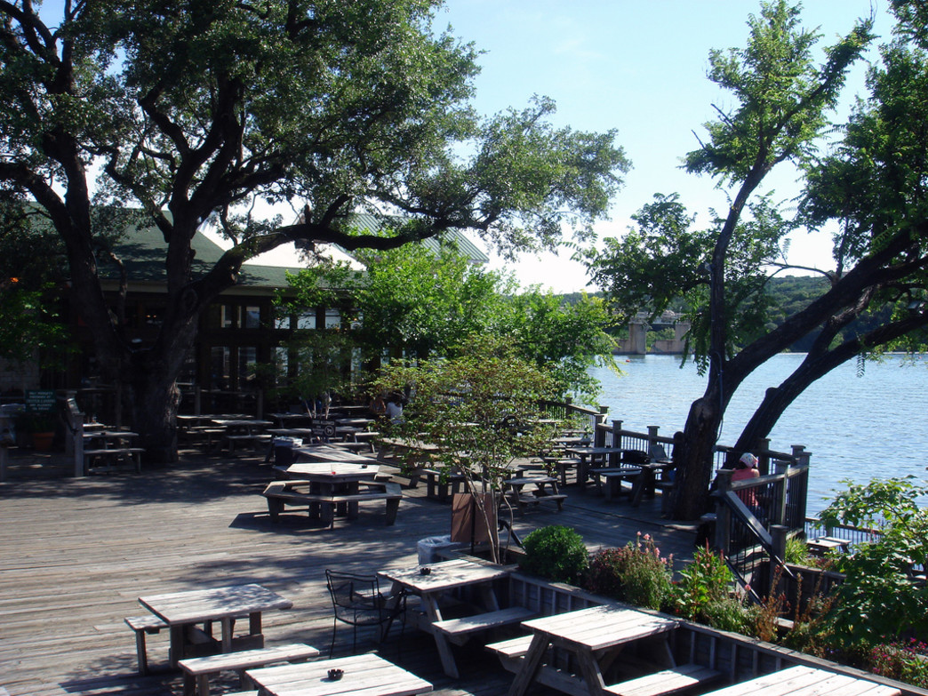 Mozart's Coffee offers up one of the best outdoor patios in Texas