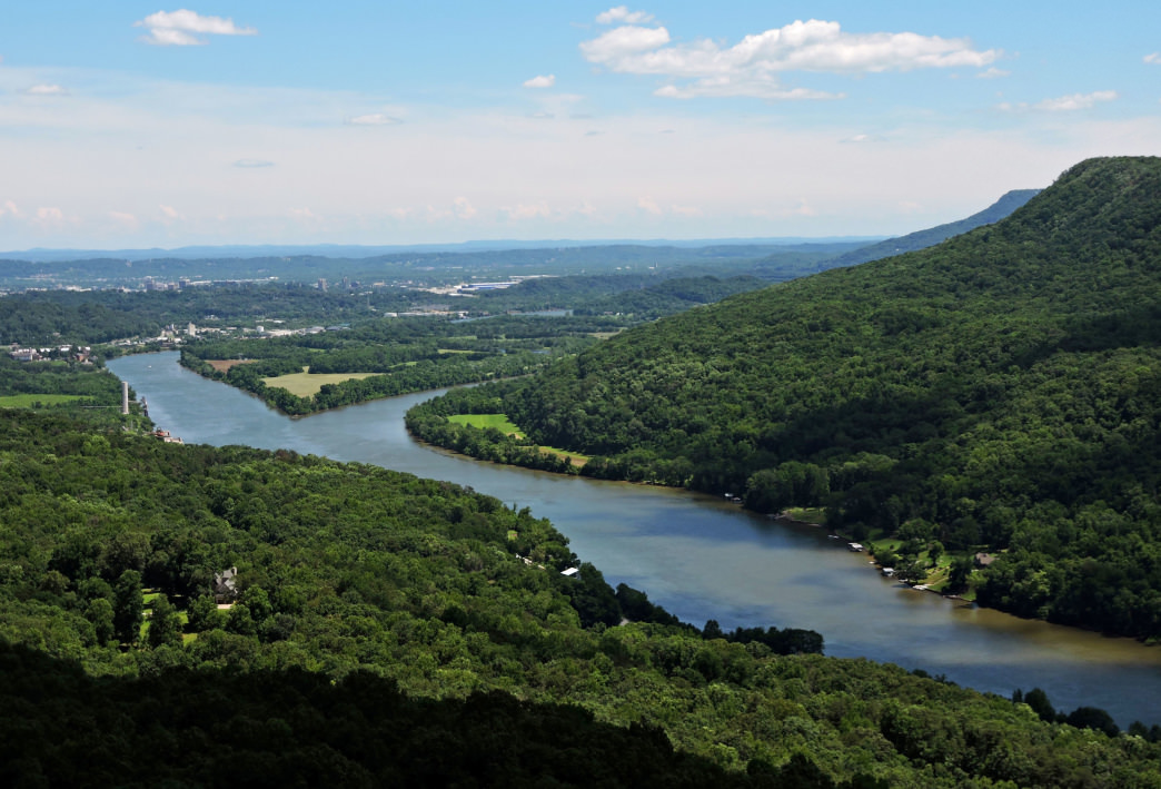 Signal Point offers excellent views of the river gorge below. Pair it with a trip to the nearby Julia Falls overlook.