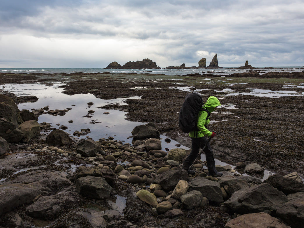 Backpacking along Washington's wild and rugged Olympic Coast.