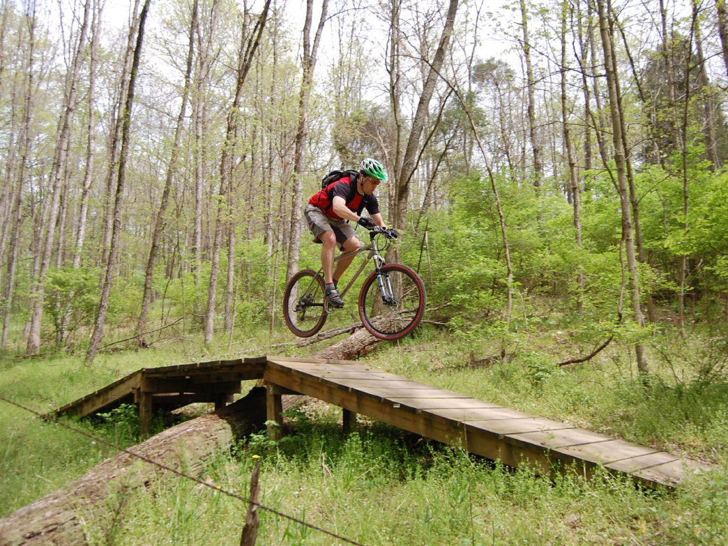 Burlington, KY has a great trail system begging to be shredded.
