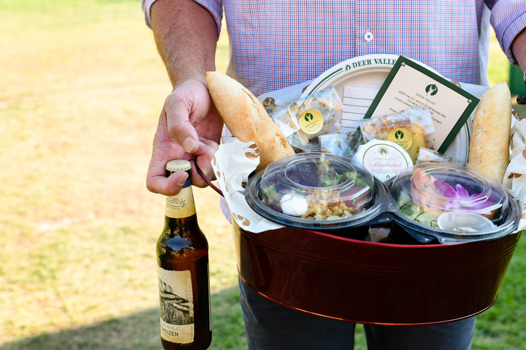 Take advantage of Deer Valley's Gourmet Picnic Baskets, which include artisan cheese plates, fresh salads, and gourmet wraps.
