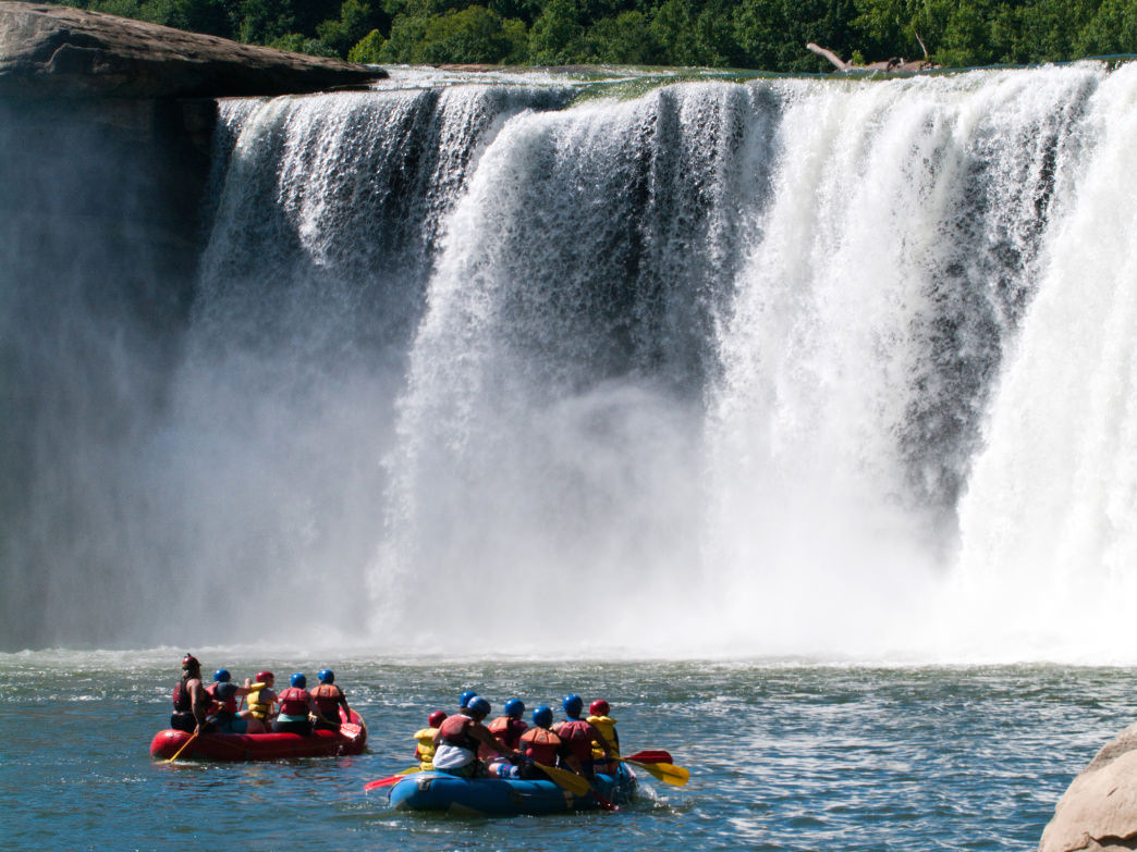 Whitewater rafting is an exciting way to cool down on a hot summer day.
