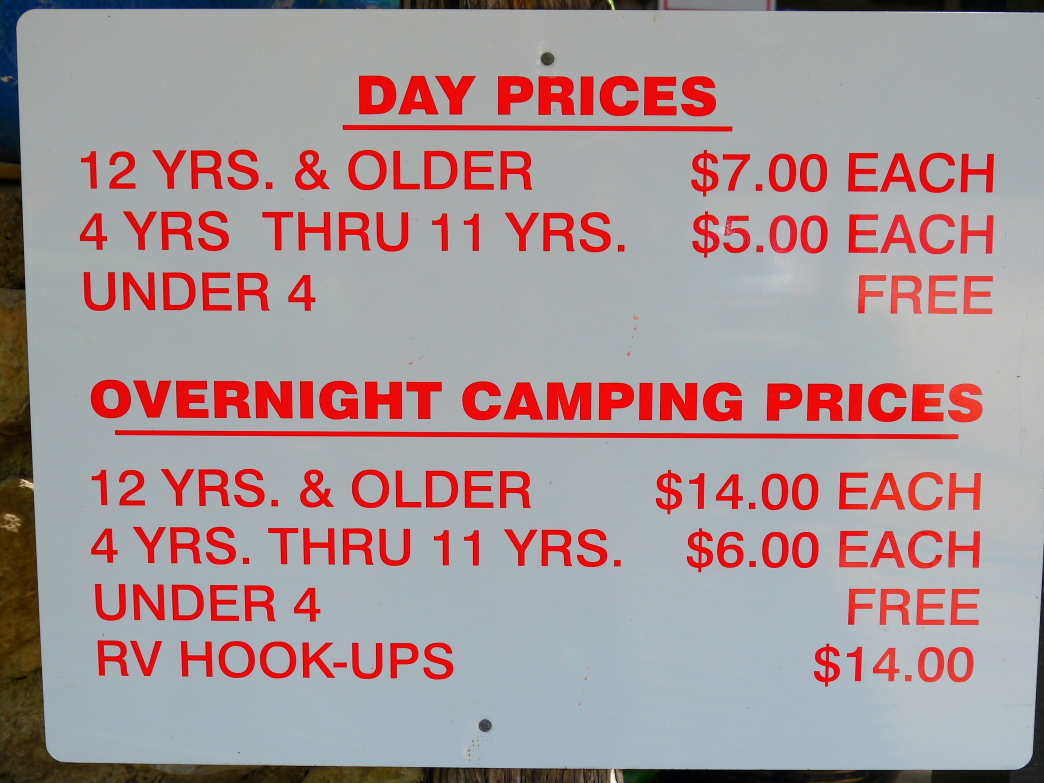 Krause Springs Entrance Fees