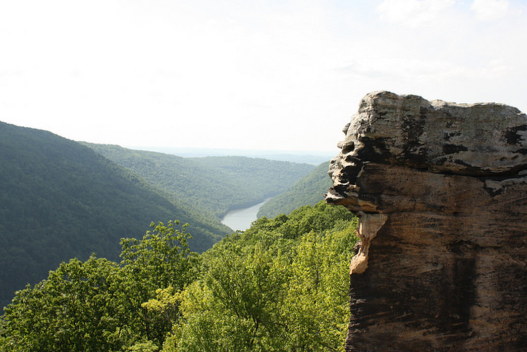 You are rewarded with views like this when you climb in West Virginia.