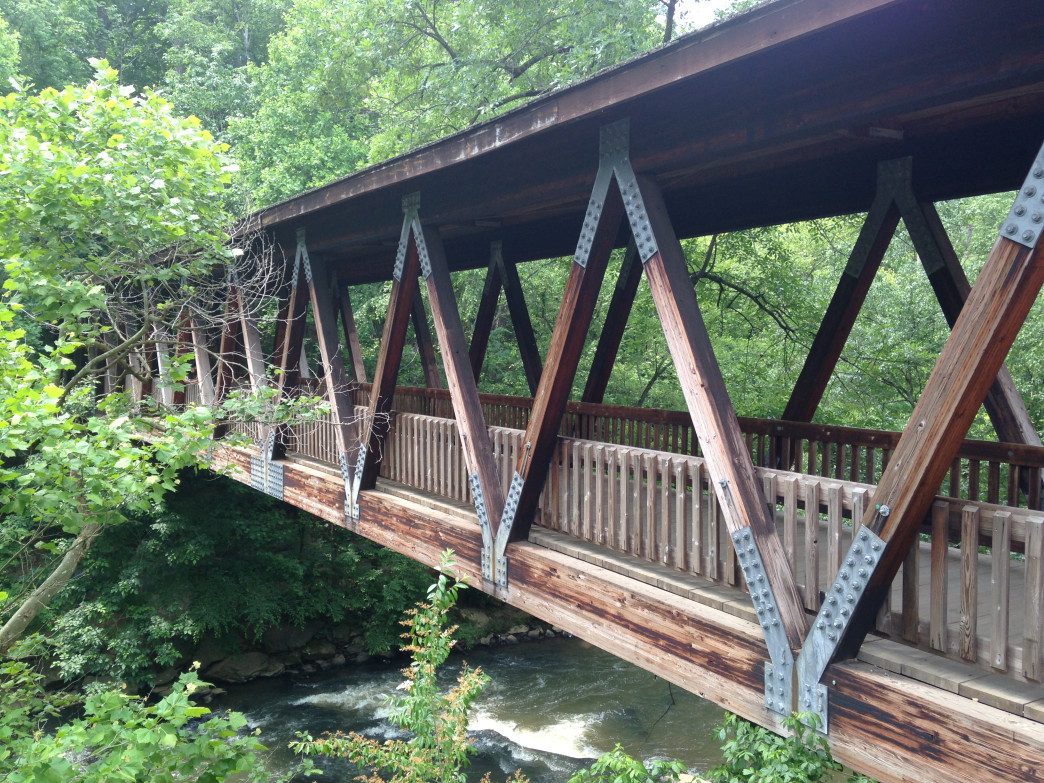 Vickery Creek's covered bridge.