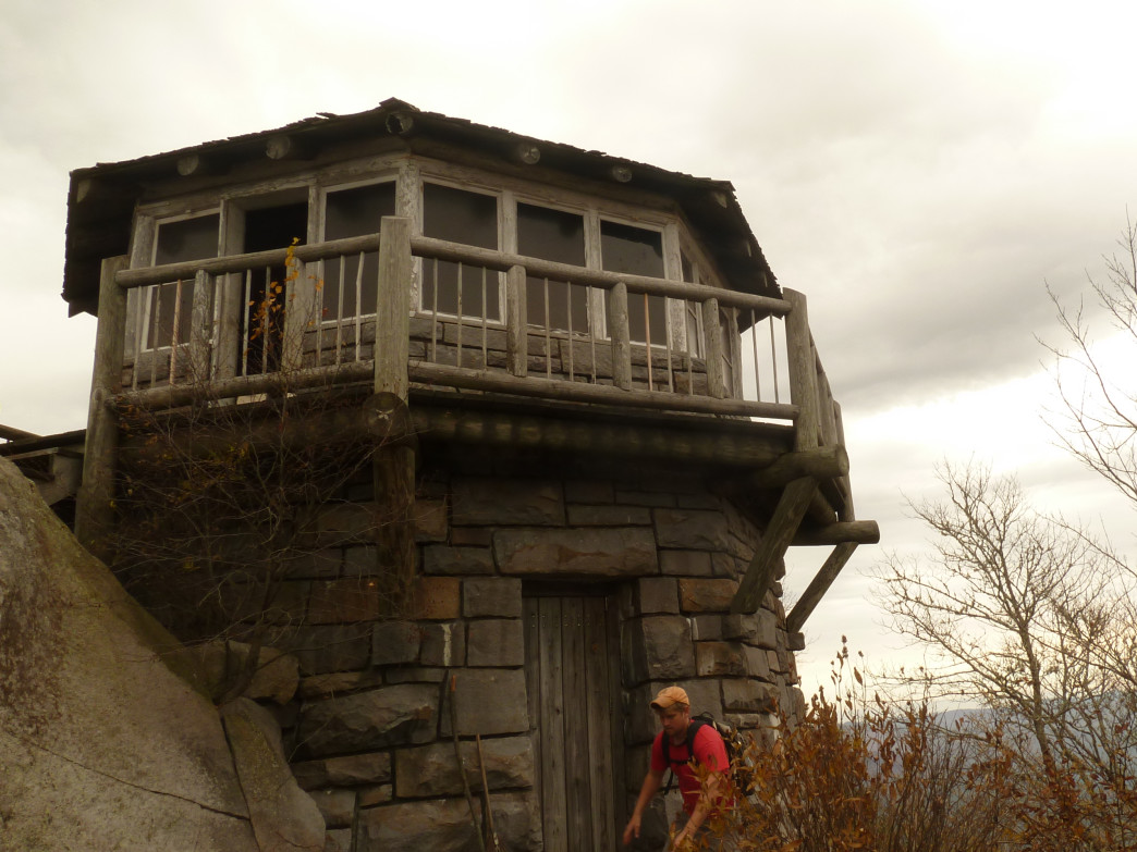 360 degree views from the fire tower at Mt. Cammerer