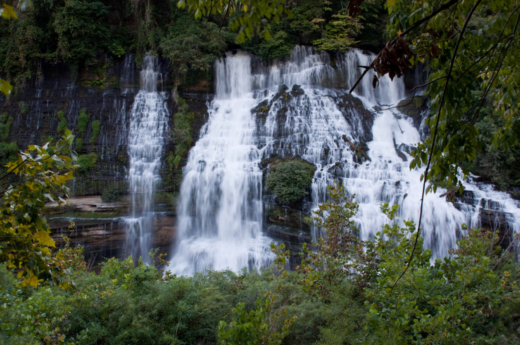 Twin Falls is one of the highlights at Rock Island State Park.