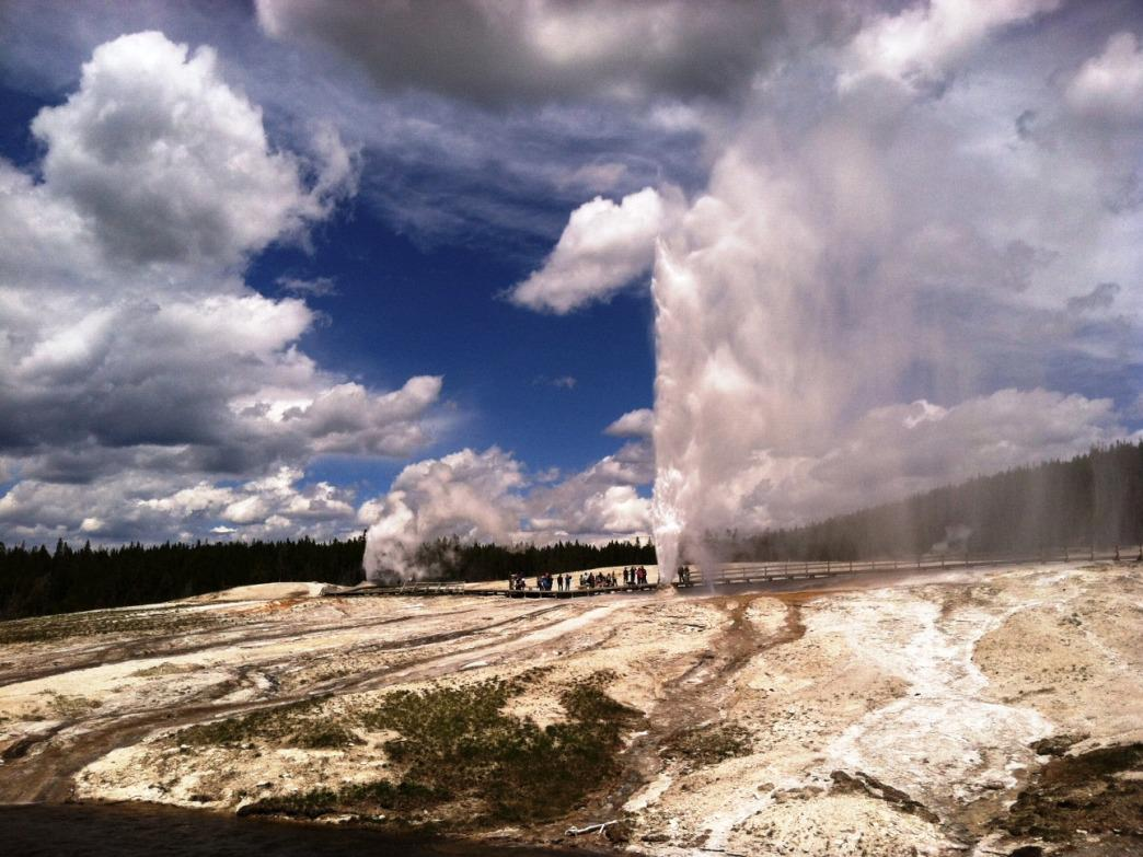 Multiple eruptions in the Upper Geyser Basin