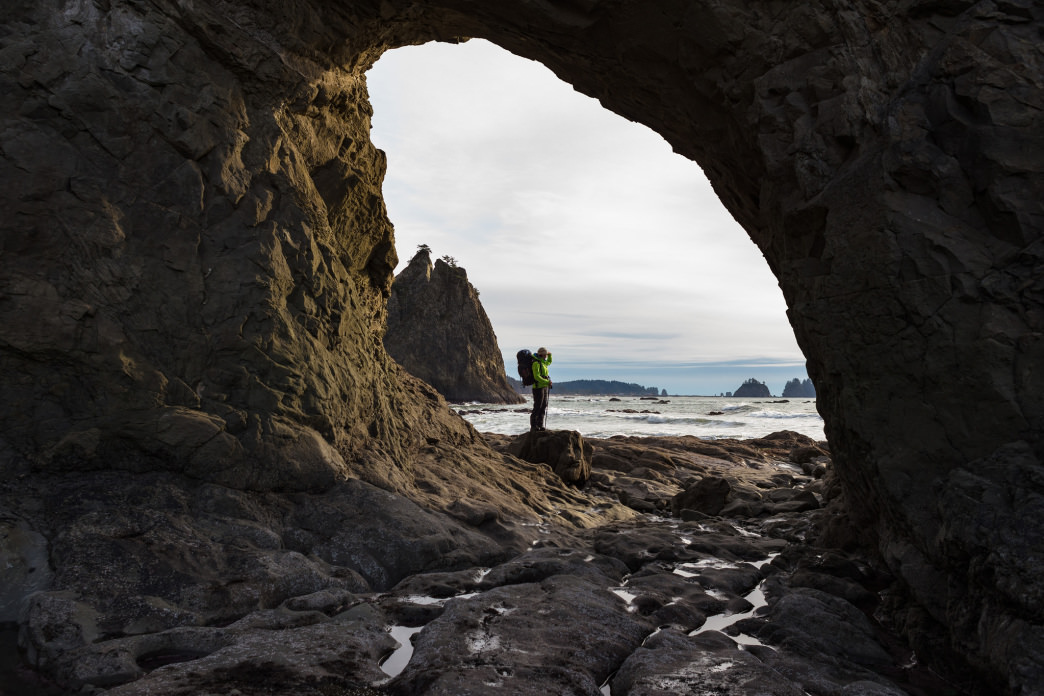 Taking in just one of the thousands of gorgeous vistas along the sublime Washington Coast.
