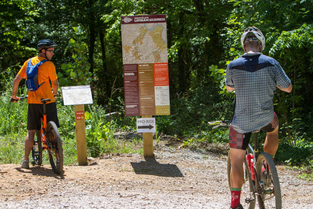 The 7 miles of trail at Baker Creek Preserve ties into the larger Urban Wilderness network, totaling 42 miles through southern Knoxville.     Clay Duda