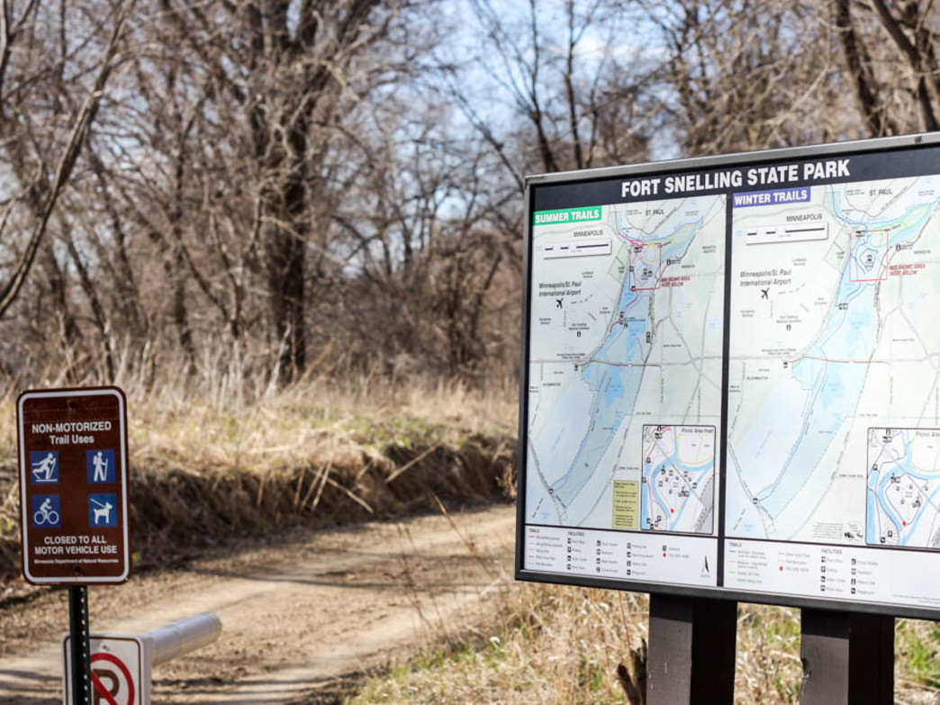 With over 30 miles of paved and gravel trails, Fort Snelling State Park is a great place to hit the trail
