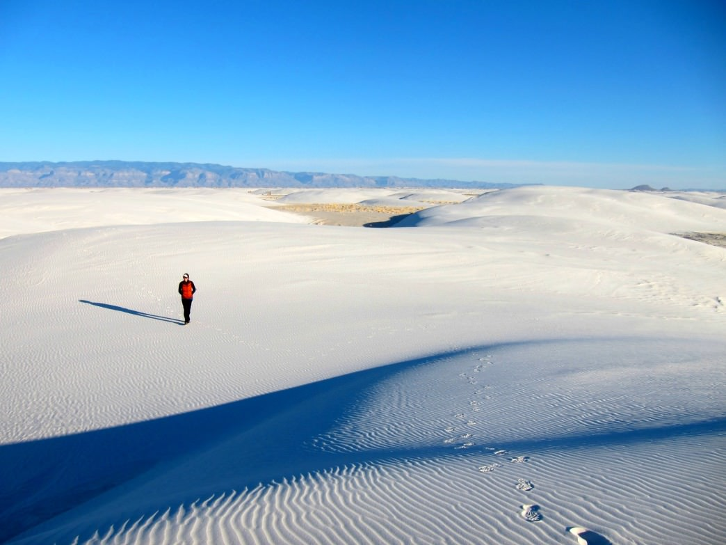 White Sands National Monument is just one of many incredible places to hike in the Land of Enchantment