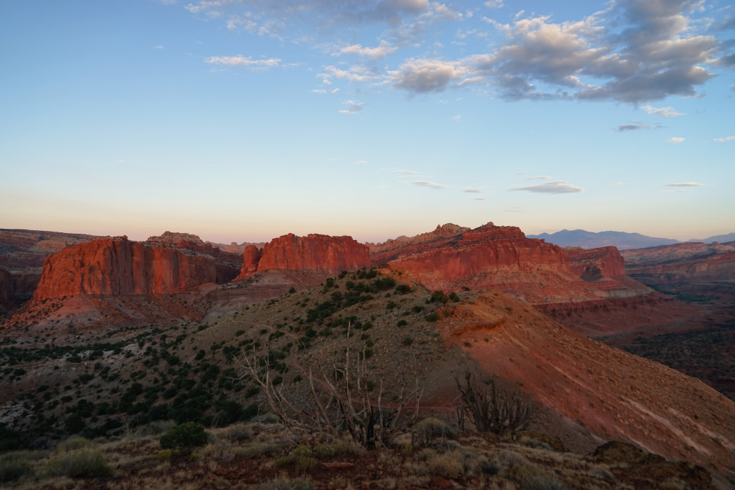 An otherworldly landscape of deep red Entrada Sandstone. Sarah Levant