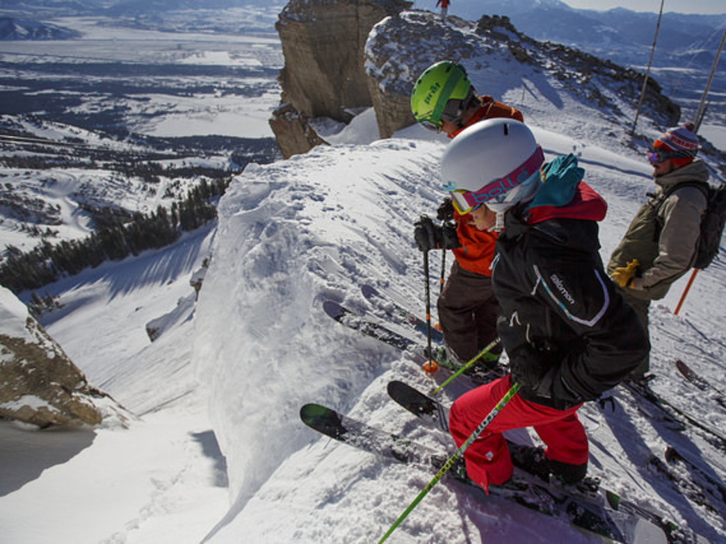 Expert skiers may enjoy a leap into the chasm that is Corbet's Couloir.