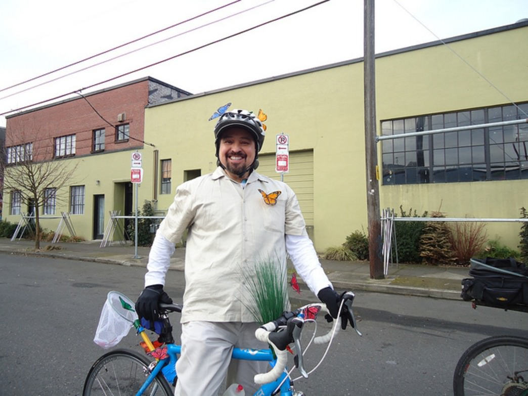 Worst Day of the Year Ride organizers encourage riders to dress up in costumes.