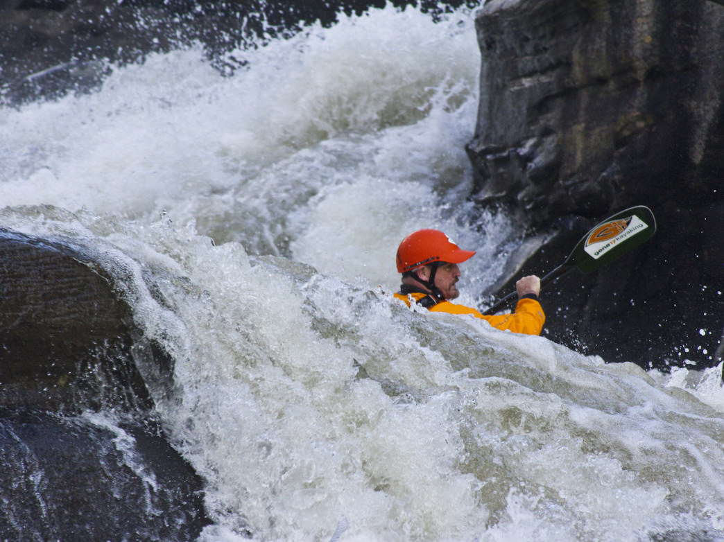 Kayaking the Pillow Rock Rapid on the Gauley River will get your heart pumping.     Jay Young