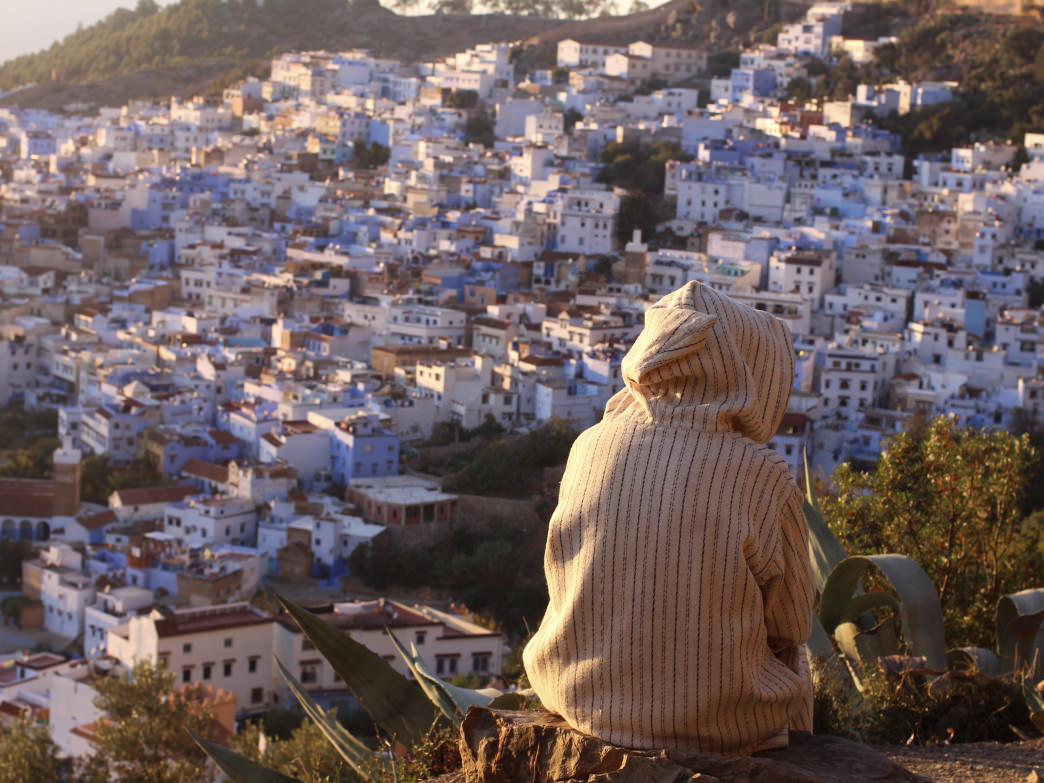 Taking in the views over Chefchaouen.