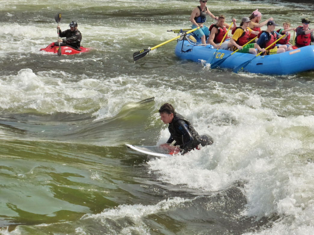 The Glenwood Springs Whitewater Park attracts water lovers of all sorts.
