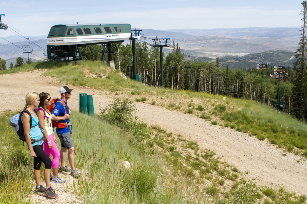 Hiking at Deer Valley Resort offers some spectacular views.
