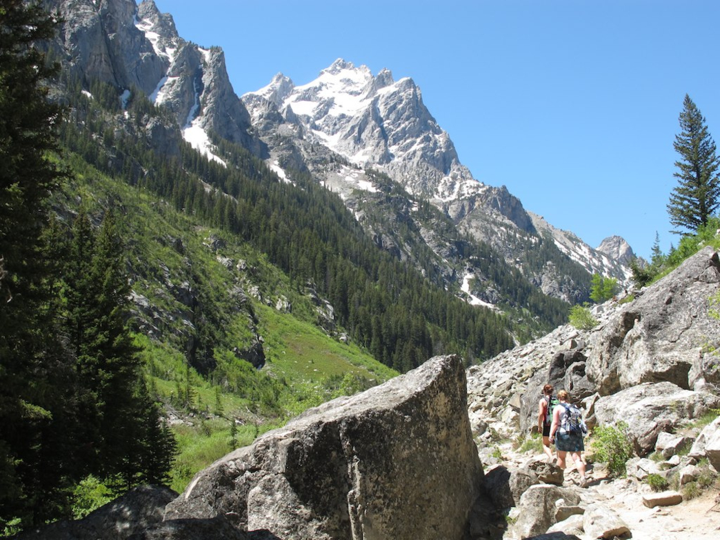 Hiking trails in Grand Teton offer up plenty of opportunities for overnight excursions.