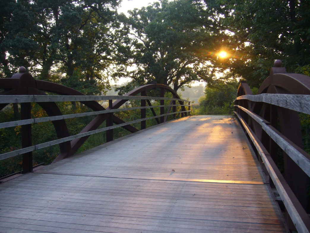 The Des Plaines River Trail offers the longest scenic route for runners in the northern suburbs.