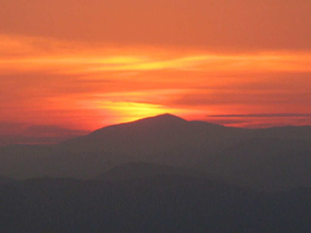 The sunset from Yonah Mountain.