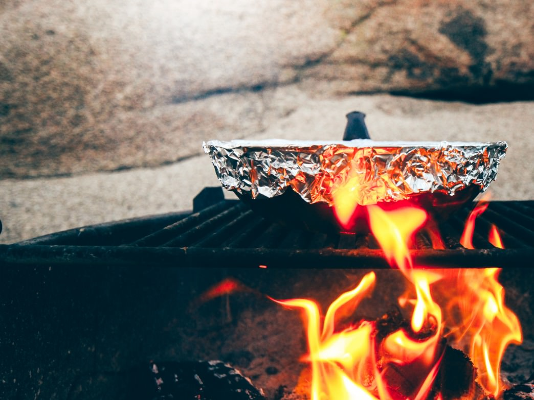 A skillet over the campfire is a great way to cook cheesy, delicious paninis.