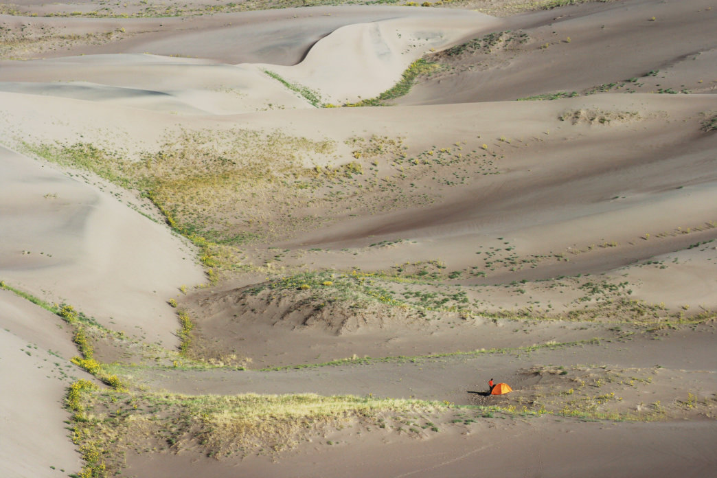 Camping in the Great Sand Dunes National Park and Preserve.