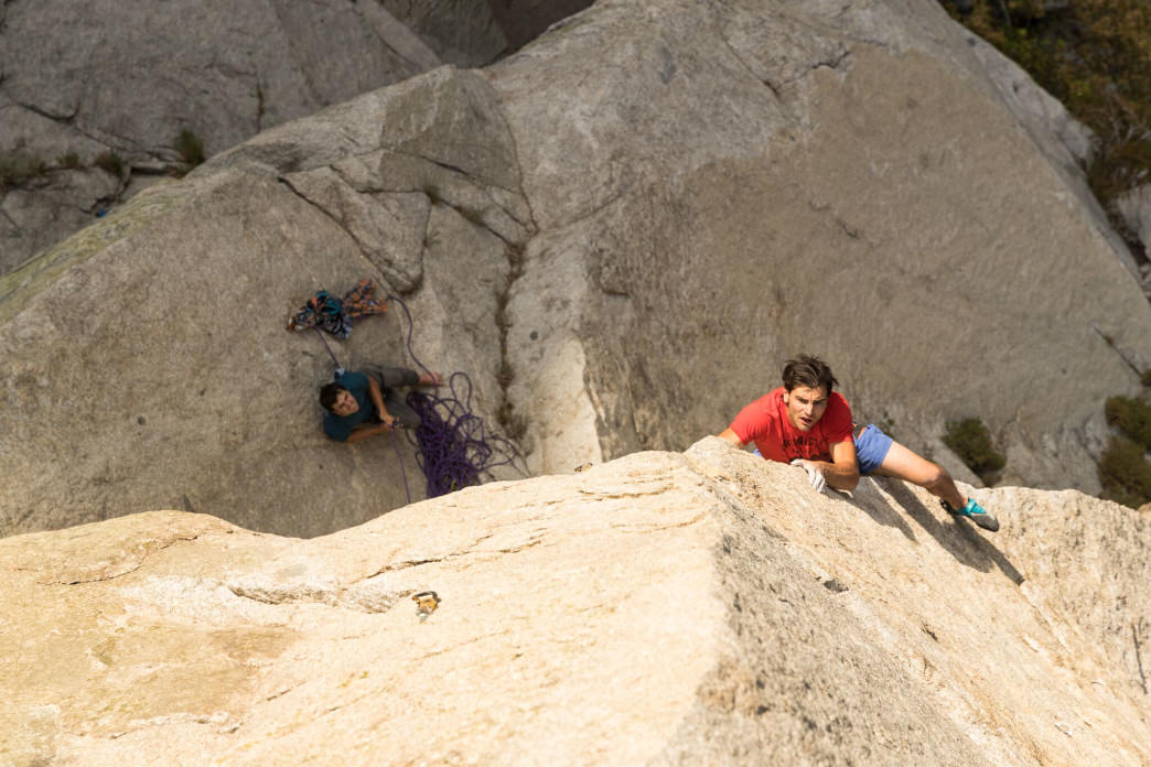 Josh Larson loves that climbing takes him all over the world to find his next hard send. Jon Glassburg