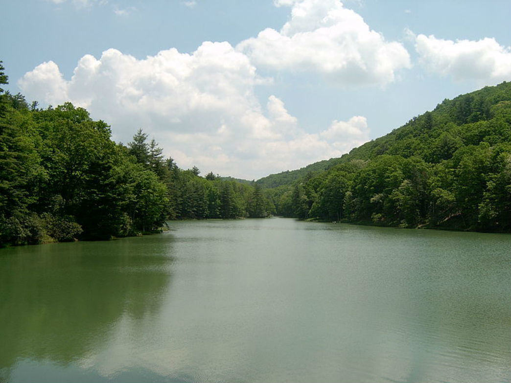 Watoga State Park's 11-acre lake is stocked with bass, catfish, bluegill, and trout.