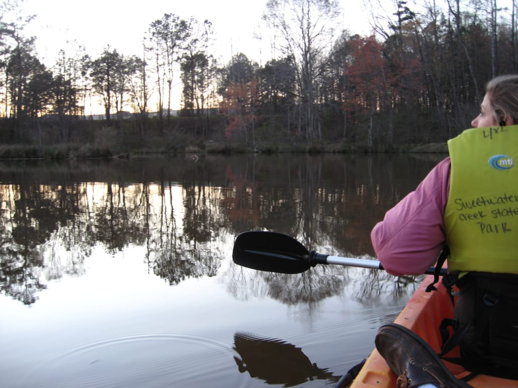 Sweetwater Creek State Park paddle near dusk.