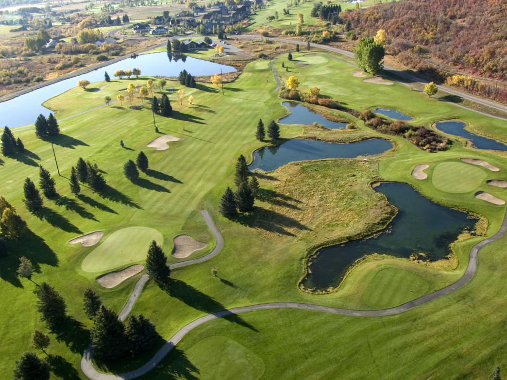 The Lakes Course is one of two options at the Wasatch Mountain Golf Course.