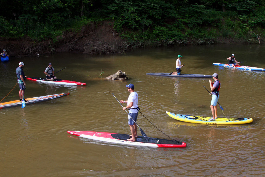 SUP on the French Broad River.