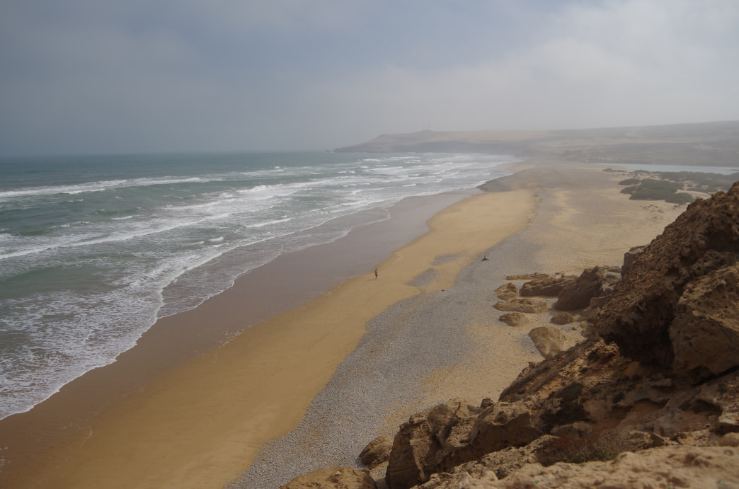 A quiet beach just north of Agadir.