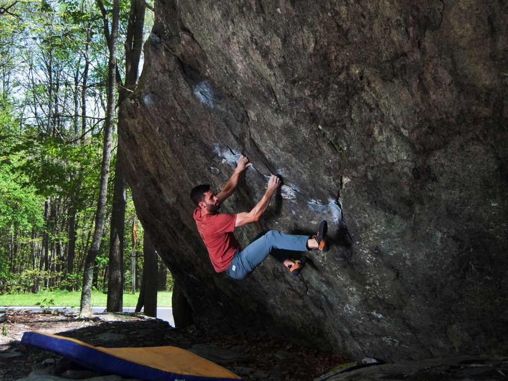 Many climbers are drawn to Grayson Highlands State Park for the bouldering opportunities.