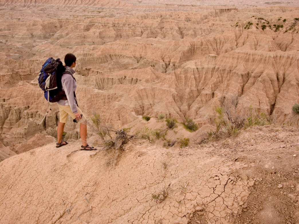 Backpacking in Badlands National Park.