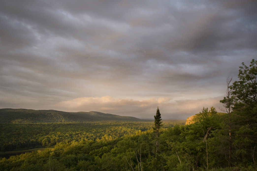 The Porcupine Mountains from the Escarpment Trail