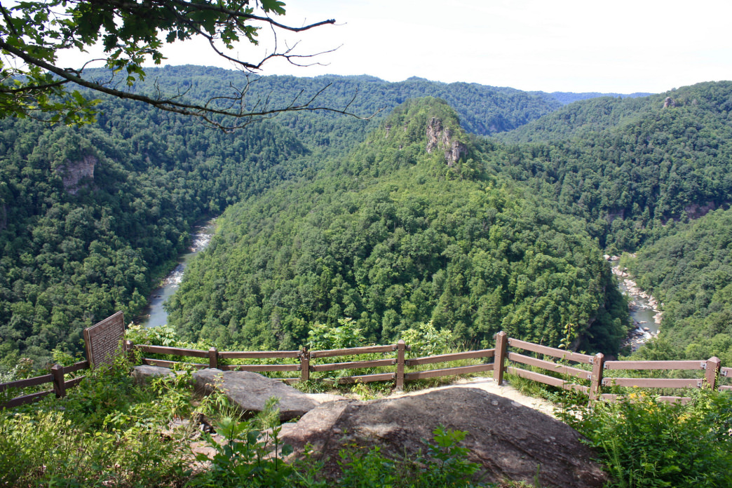 A view of Breaks Canyon from the Towers Overlook in Breaks Interstate Park.