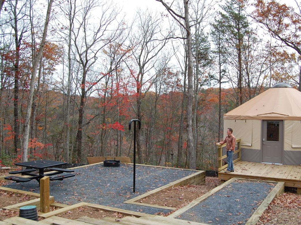 A yurt at Cloudland Canyon.